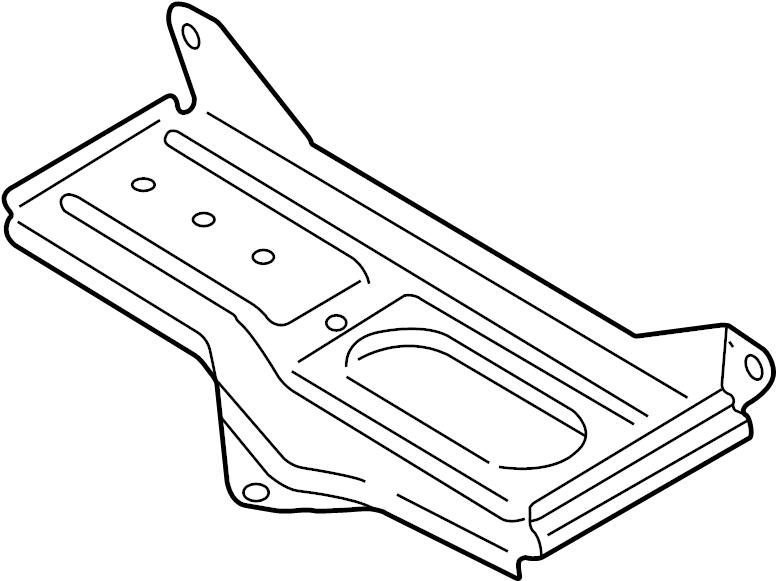 2004 Volkswagen Passat Wagon Battery holder. Battery tray