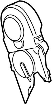 2006 Volkswagen Beetle Engine Timing Cover (Front, Upper