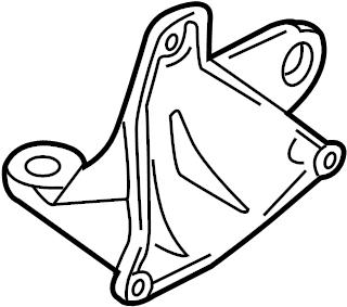 2004 Volkswagen Passat Wagon Bracket. Transmission. Mount