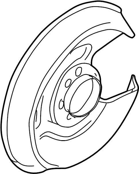 2004 Volkswagen Passat Wagon Backing plate. Brake dust
