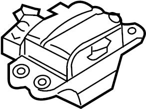 2009 Volkswagen Passat Wagon Automatic Transmission Mount