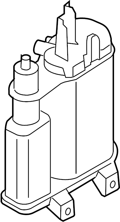 2014 Volkswagen Tiguan Charcoal. Vapor canister. Audi