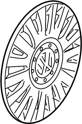 2007 Volkswagen Passat Wheel Cover. TRIM, Spoke, COVERS
