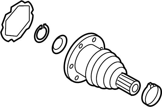 2002 Volkswagen Beetle Cv joint boot kit. Trans, left