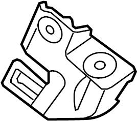2010 Volkswagen CC Headlight Bracket. 2009-2012, W