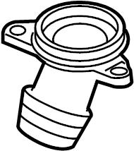 2009 Volkswagen Jetta Cover. Engine coolant thermostat