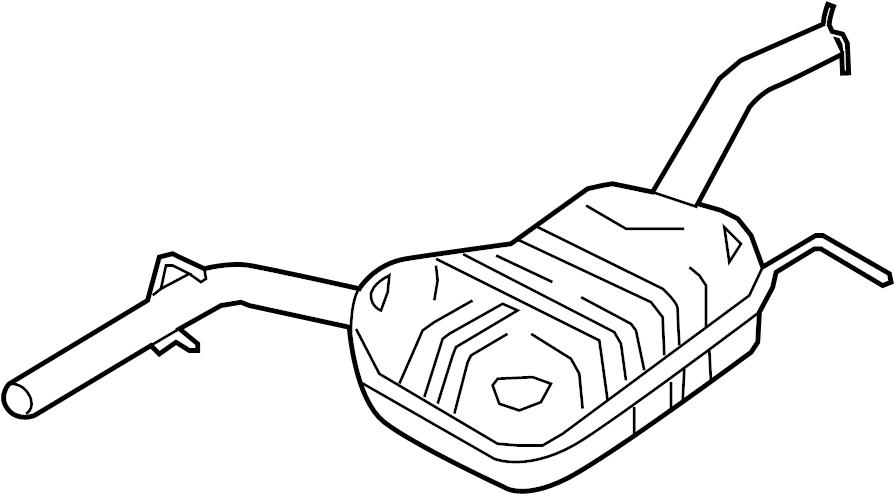 2012 Volkswagen CC Exhaust Muffler (Front). 2.0 LITER. CC