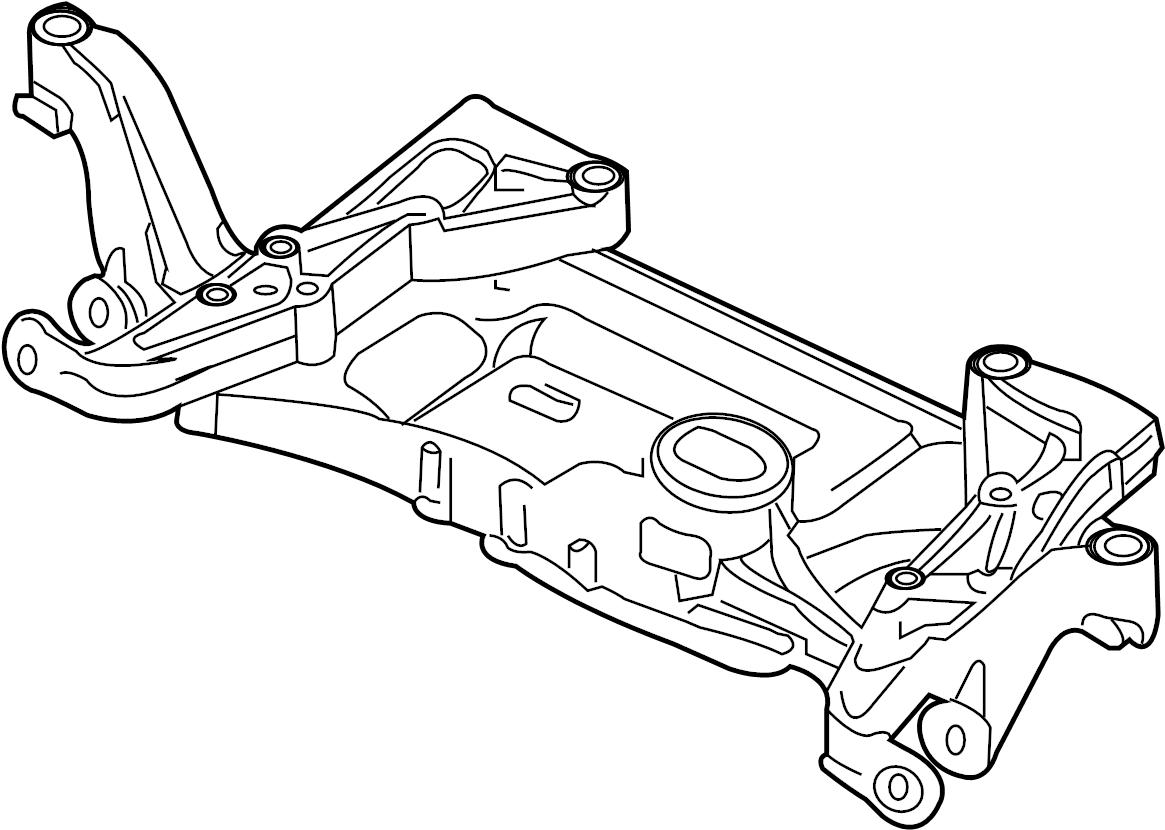 2009 Volkswagen Tiguan Engine Cradle. SUSPENSION, WAWD