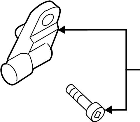 2014 Volkswagen Passat Sensor. Brake. Part included with