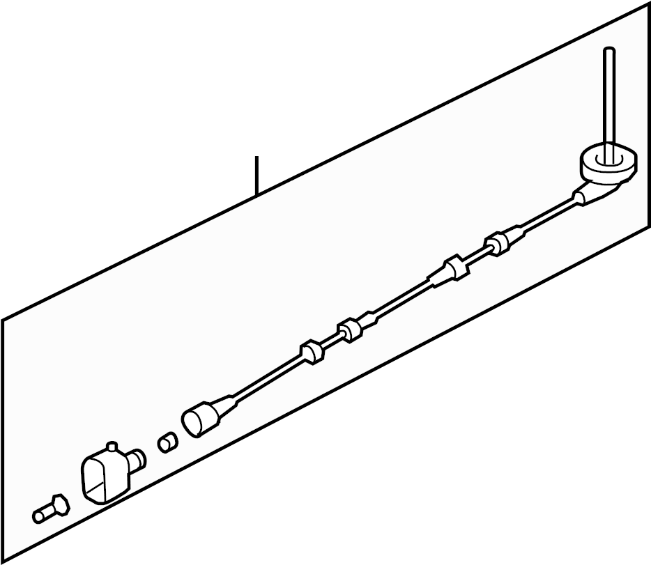 2017 Volkswagen CC Abs wheel speed sensor wiring harness
