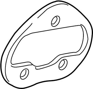 2010 Volkswagen CC Tail Light Housing Seal. Left; 2009-12