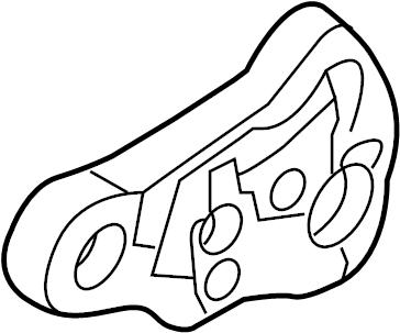 2010 Volkswagen CC Socket. Panel. Plate. BULBHOLDER. Tail