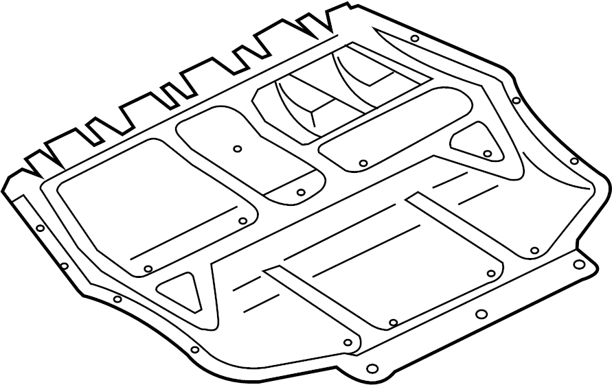 2014 Volkswagen Passat Radiator Support Splash Shield