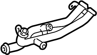 2018 Volkswagen Jetta GLI Engine Coolant Pipe. Auto, TRANS