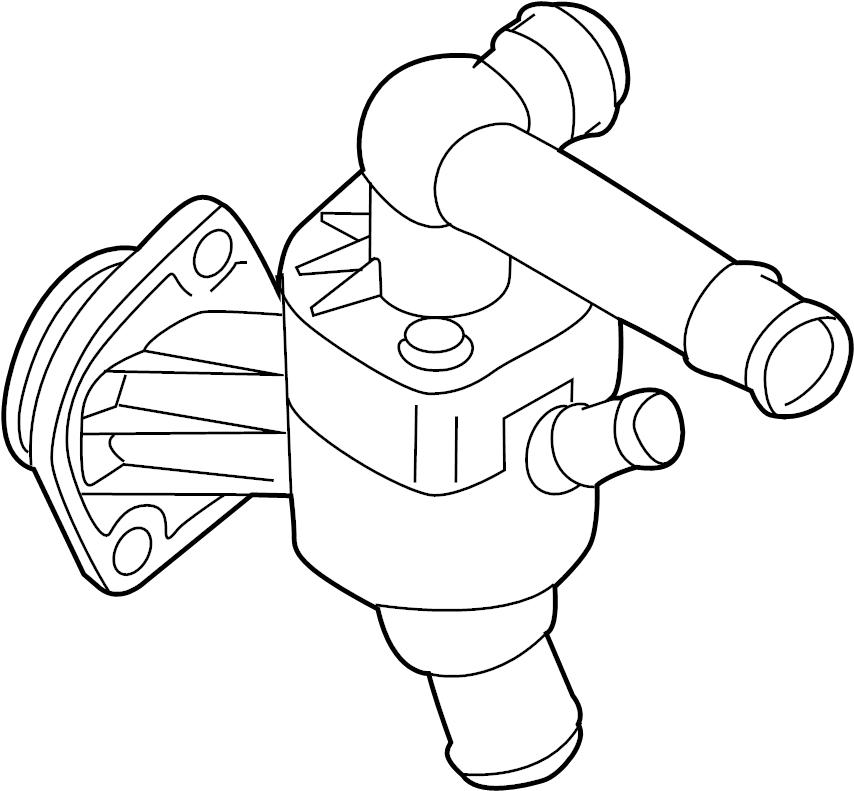2013 Volkswagen Passat Engine Coolant Thermostat Kit