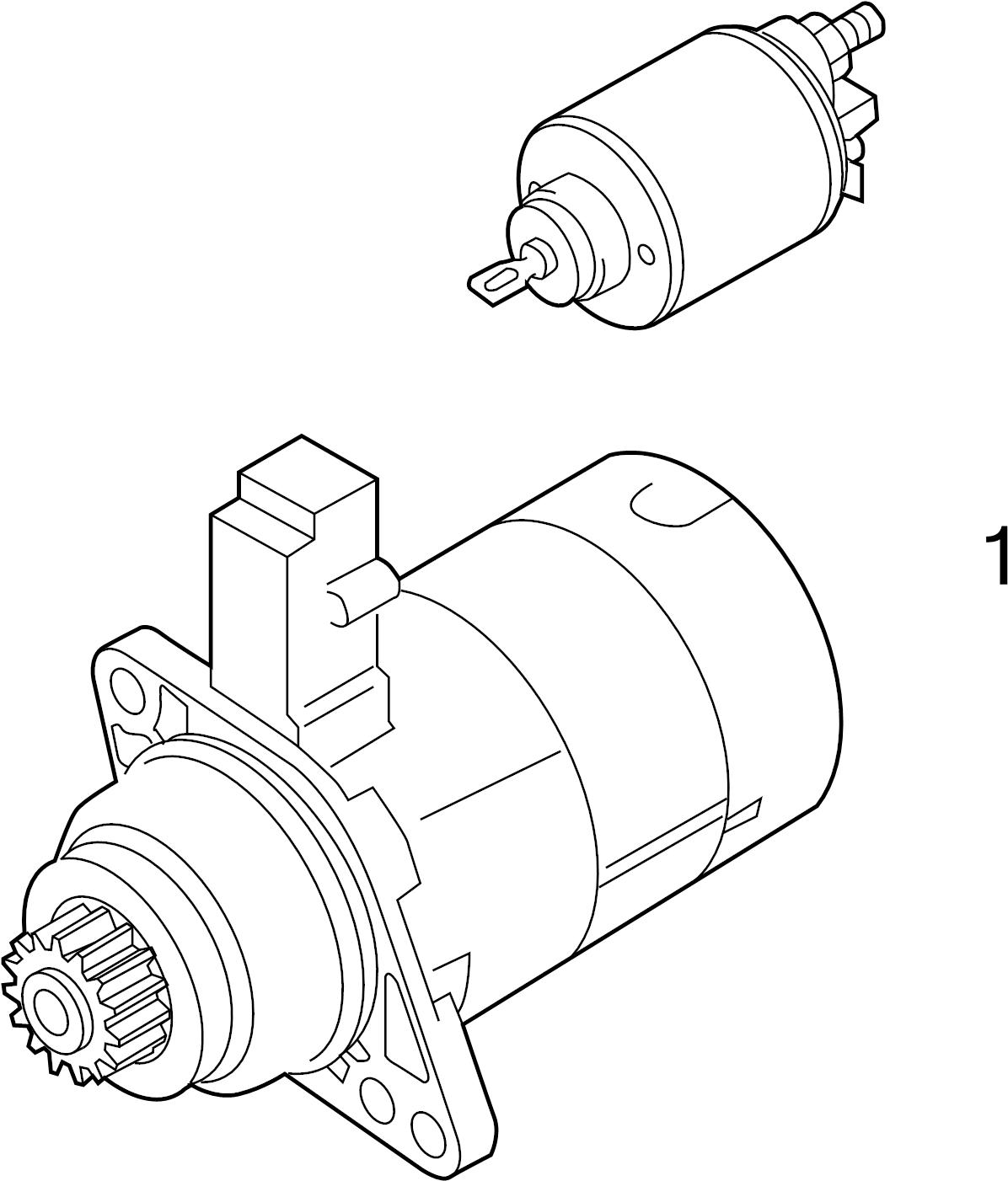 2014 Volkswagen Passat Starter solenoid. SWITCH. Part