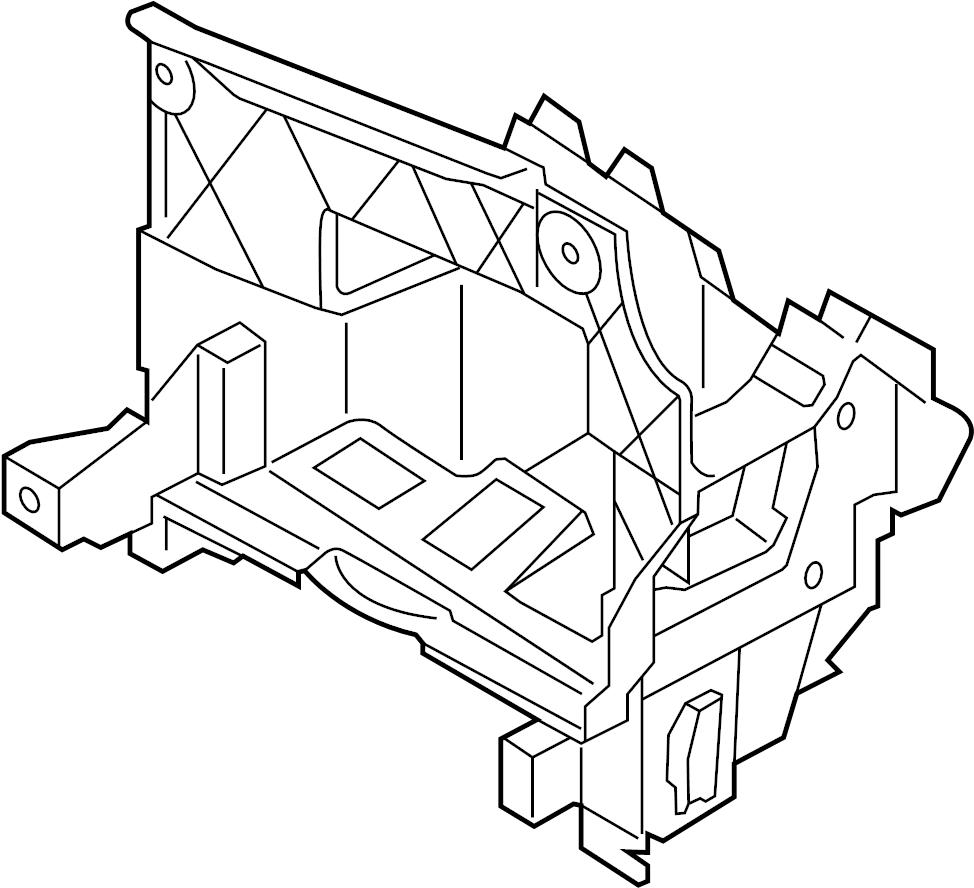 2015 Volkswagen Eos Bracket. Control module bracket. Mount