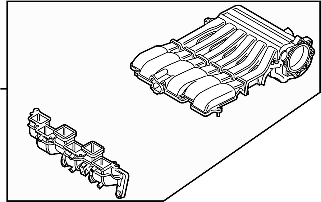 2012 Volkswagen Passat Intake manifold. LITER, Engine