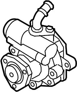 2012 Volkswagen Passat Power Steering Pump. Power Steering
