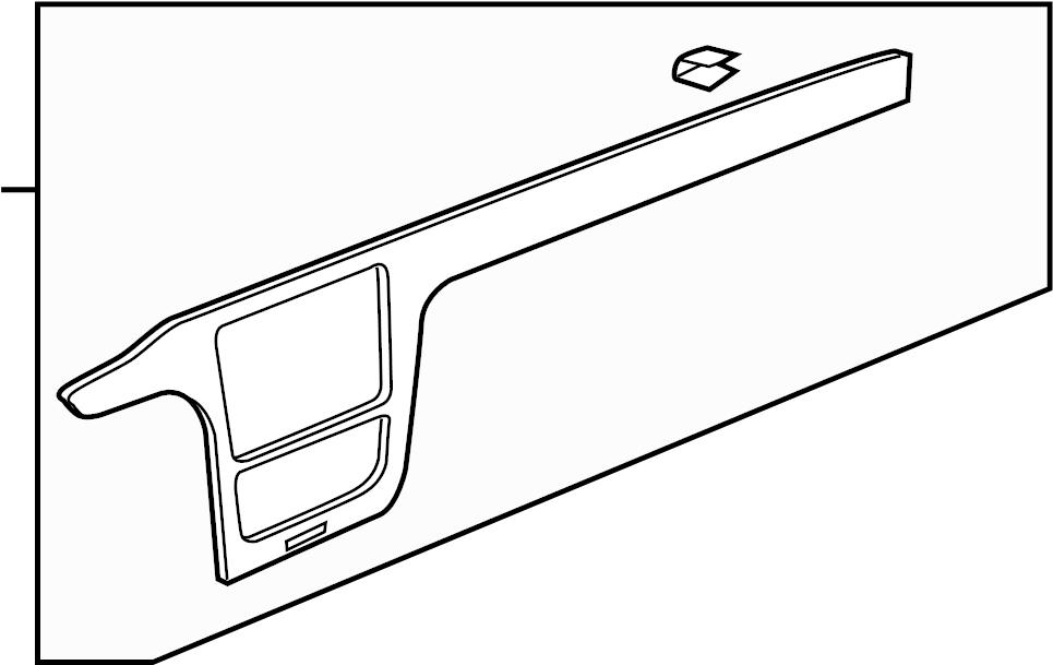 2013 Volkswagen Passat Instrument Panel Trim Panel. Wood