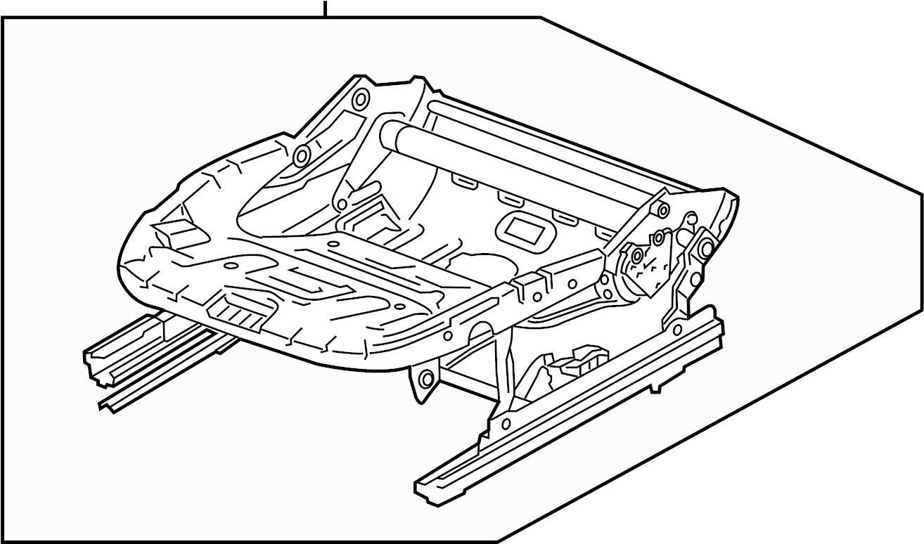 2017 Volkswagen Passat Seat Frame. CUSHION, COMPONENTS