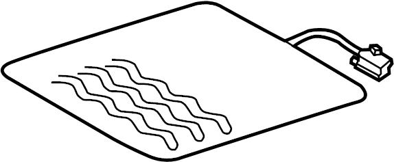2013 Volkswagen Passat Seat Heater Pad. Cushion