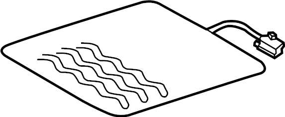 2013 Volkswagen Passat Seat Heater Pad. Cushion, Power