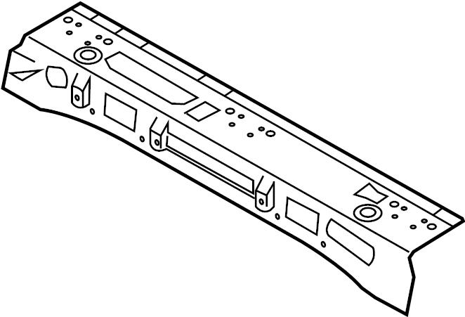 2017 Volkswagen Passat Floor Pan Crossmember (Upper). C