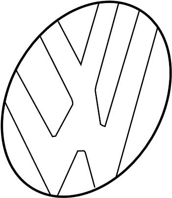 2014 Volkswagen Jetta GLI Deck Lid Emblem. Chrome/black