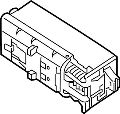 2014 Volkswagen Jetta GLI Fuse box main. Holder. PASSENGER