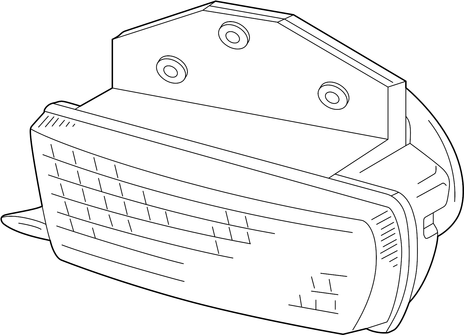 Volkswagen Eurovan Fog Lamp Assembly Fog Light Lens