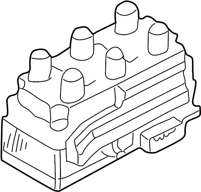 2003 Volkswagen EuroVan Direct Ignition Coil. 2.8 LITER, 6