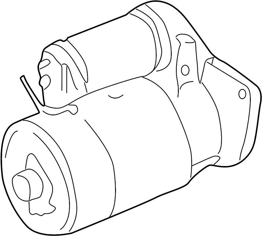 2000 Volkswagen Beetle Starter Motor. 1.7 Kw. New. Trans
