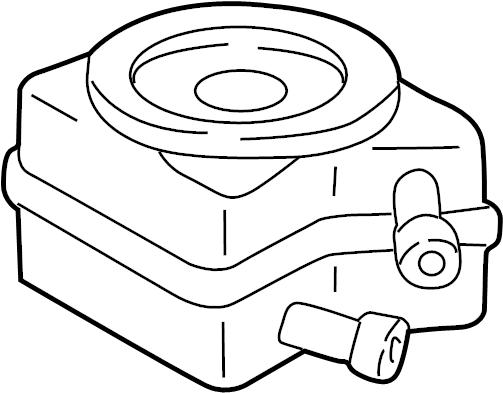 2002 Volkswagen Jetta Engine Oil Cooler. Remanufactured