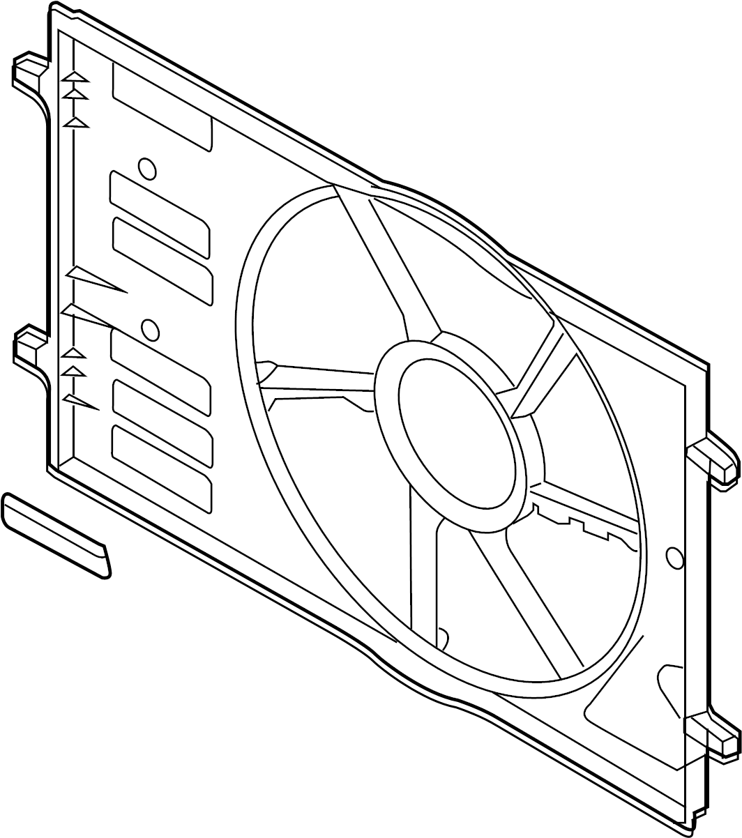Volkswagen Sportwagen Radiator Shutter Assembly