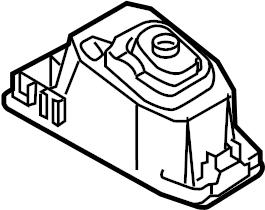 2018 Volkswagen SportWagen Damper. Sound absorber. Console
