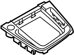 2016 Volkswagen SportWagen Console Trim Panel. Control