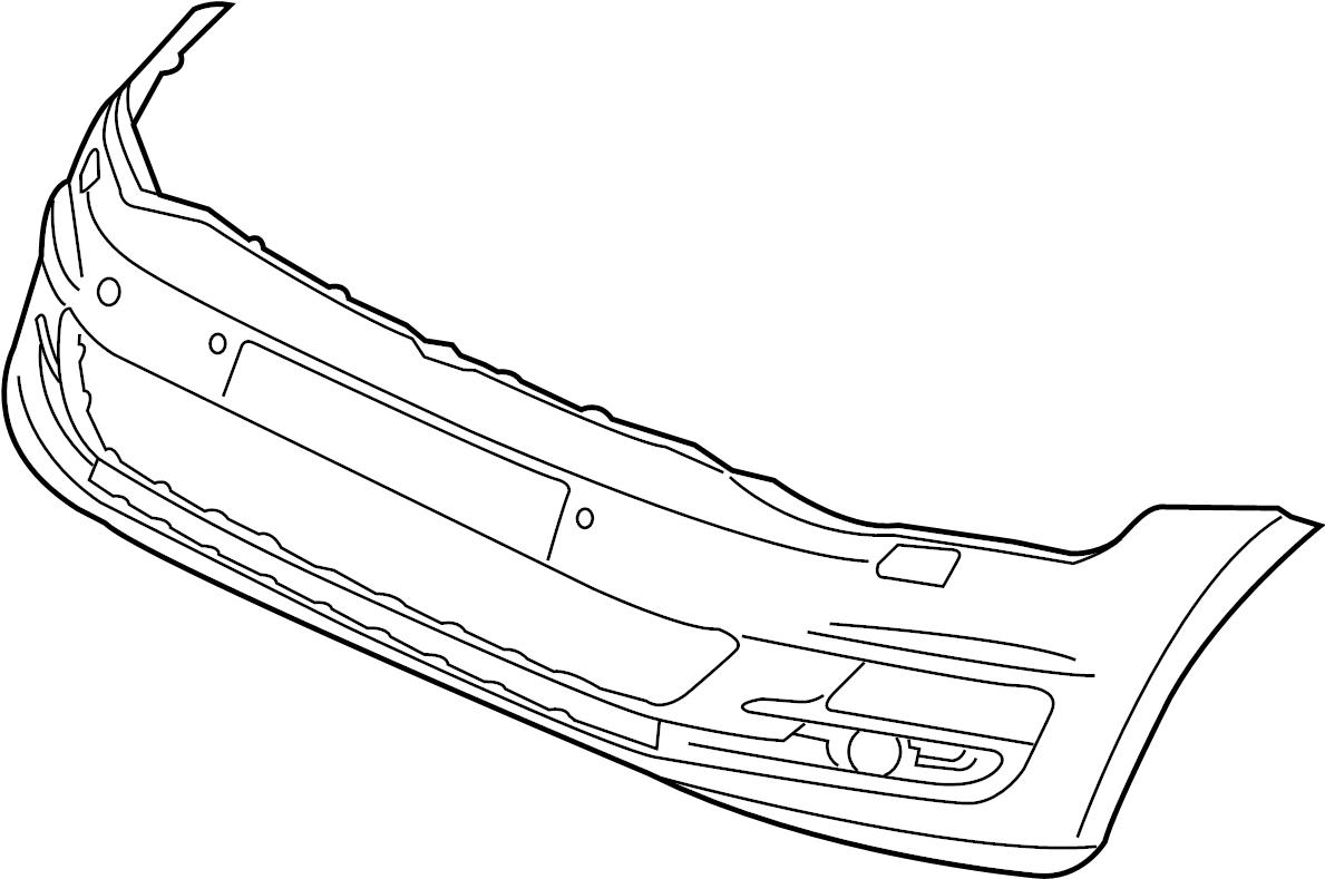 Volkswagen Golf Bumper Cover Front W O Park Sensor