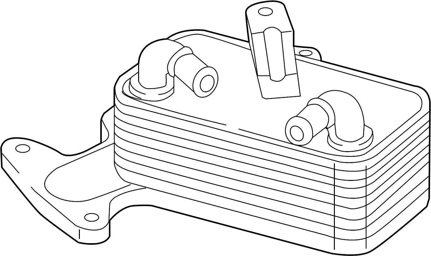 2016 Volkswagen Golf Automatic Transmission Oil Cooler. 1