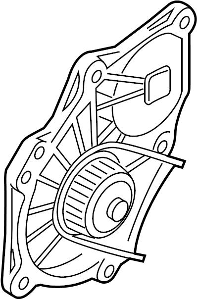 2013 Volkswagen Jetta GLI Engine Water Pump. Water pump