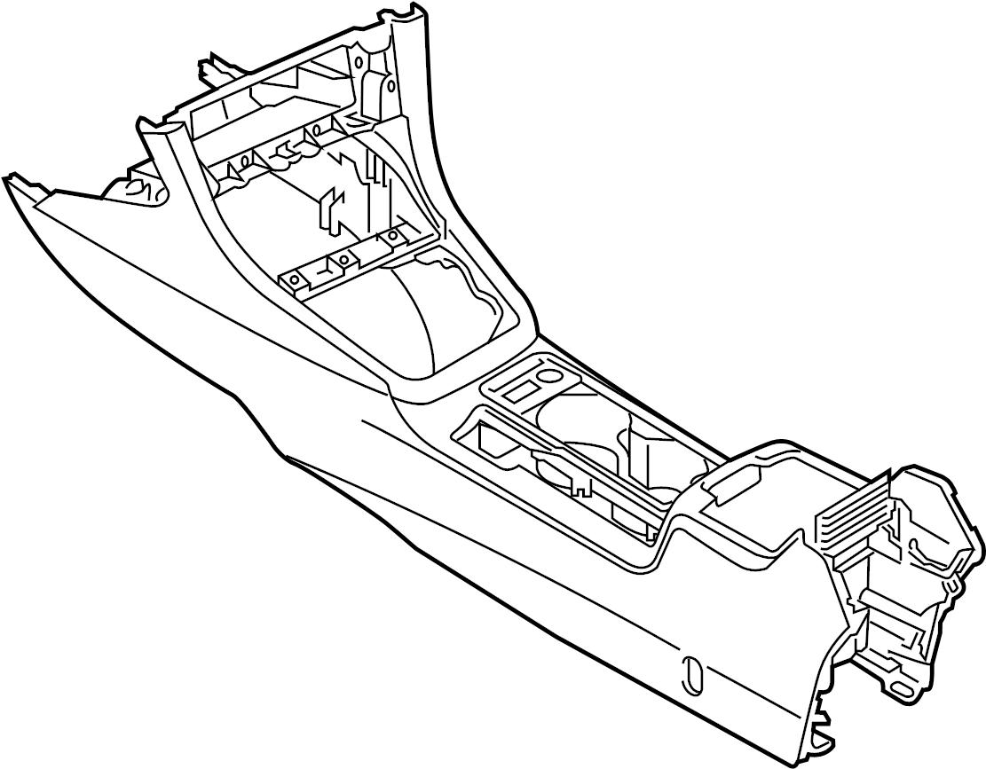 2015 Volkswagen Golf Seat Console. CONSOLE & TRIM, W/O R