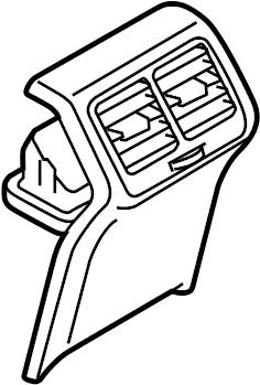 2016 Volkswagen Golf SportWagen Trim. Console. Air Vent