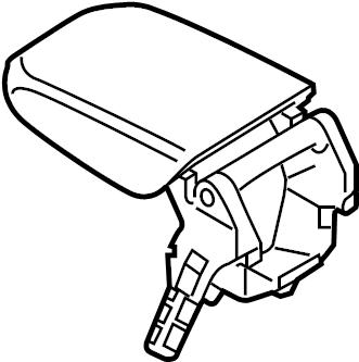 2015 Volkswagen SportWagen Console Armrest. CONSOLE & TRIM