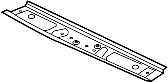 2018 Volkswagen GTI Roof Header Panel. W/sunroof, lower