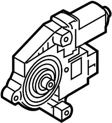 2015 Volkswagen GTI Power Window Motor. Right, Regulator