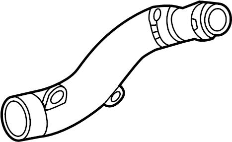 2013 Volkswagen Golf R Turbocharger Intercooler Pipe