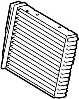 2013 Volkswagen Tiguan Hvac heater core. Heatercore