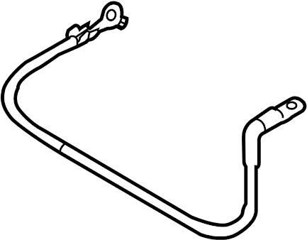 2014 Volkswagen Jetta GLI Ground. CABLE. Strap. Battery