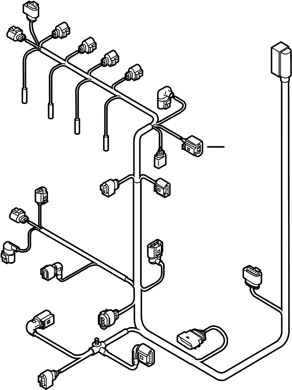 2012 Volkswagen Golf Diesel Glow Plug Connector. Harness