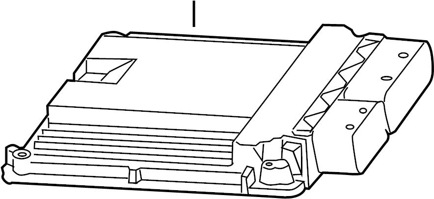 2015 Volkswagen Golf R Engine Control Module. 2.0 LITER